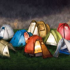 Colorful camping tents from www.abadak.com