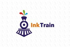 INK TRAIN - $400 (negotiable) http://www.stronglogos.com/product/ink-train #logo #design #sale #printing #shop #publishing #bookstore