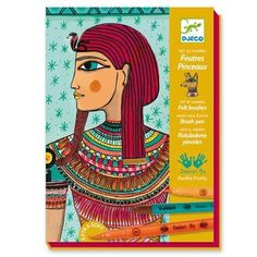 Kids' Felt Craft Kits - Djeco Felt Brush Coloring Kit Egyptian Art * Check out this great product.