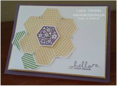 Stampin' Up! Card by Laurie W at Mid-MO stamping: Six-sided Sampler flower hexagon punch