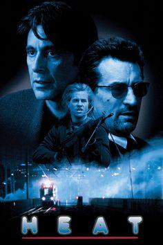 Directed by Michael Mann. With Al Pacino, Robert De Niro, Val Kilmer, Jon Voight. New Movies 2018, 1995 Movies, New Movies To Watch, Hd Movies Online, Good Movies, Imdb Movies, Heat Film, Heat Movie, Val Kilmer