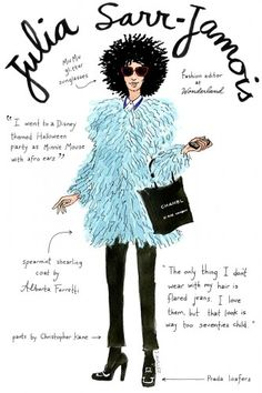 Fashion editors get the doodle treatment! Illustrations by Joana Avillez