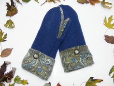 Upcycled Fleece Lined Felted Woolen Mittens Hand by JustThatGood, $26.00