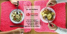 Gagnez un Superkit pour tricoter vos propres sets de table We Are Knitters et un délicieux kit de cuisine du monde Kitchen Trotter