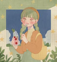 오늘 마켓 와주신 분들 너무 감사합니다 ㅜ. 재고를 적게 준비한 부분 너무 죄송했어요ㅠㅠ 오늘 밤에 온라인 판매 마지막 날이기도 해요! 오늘만 푹 쉬고 내일부터 밤새면서 다시 열일 할게요!! 감사합니다!!!;ㅅ;✨✨ Cute Illustration, Character Illustration, Arte Fashion, Korean Art, Aesthetic Art, Beige Aesthetic, Korean Aesthetic, Animes Wallpapers, Cartoon Art