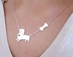My Little Dog with Big Heart - Handmade Sterling Silver Necklace | Smiling-SilverSmith Handmade Silver Rings & Jewelry