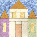 """free quilt block patterns to print   quilt block pattern that will make a 6"""" finished size quilt block ..."""