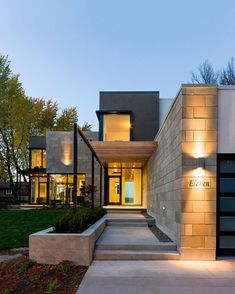 Ottawa River House by Christopher Simmonds Architect. This one is pretty cool I love all the house design design and decoration design office de casas interior decorators Contemporary Architecture, Amazing Architecture, Interior Architecture, Building Architecture, Contemporary Style, Modern Entrance, Entrance Design, Modern Entry, House Entrance