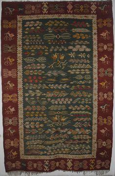 Hand woven Rug   ( Oltenia-Romania)  via
