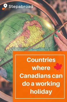 The Canadian passport is one of the top passports in the world and allows you to do a working holiday in over 30 countries around the globe! Working Holiday Visa, Working Holidays, Apply For Passport, Canadian Passport, Passport Online, Driver's License, Work Abroad, Countries, United Kingdom