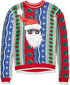 Ugly Christmas Sweater - Ideas that Win all the Ugly Sweater Contests Best Ugly Christmas Sweater, Christmas Sweater Dress, Christmas Jumpers, Christmas Bingo, Mens Fleece, Ugly Sweater Contest, Chambray Skirt, Formal Dress Shops