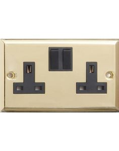 Brass Twin #Switched #Socket
