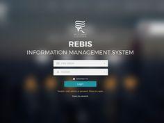 REBIS Login Screen (redesign) by Uygar Aydın