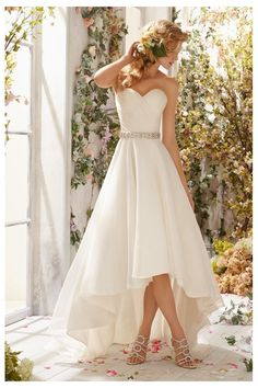 Be the Breakout Bride in an Alternative Wedding Gown - Top Fashion & Beauty Stories Mori Lee Wedding Dress, Wedding Bridesmaid Dresses, Wedding Dress Styles, Dream Wedding Dresses, Wedding Attire, High Low Wedding Dresses, Gown Wedding, Wedding Dress For Short Women, Asymmetrical Wedding Dresses