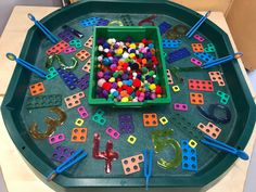 EYFS Maths - numicon counting finger gym with Pom poms and tweezers Counting Activities Eyfs, Numicon Activities, Maths Eyfs, Eyfs Classroom, Fine Motor Activities For Kids, Nursery Activities, Jolly Phonics Activities, Numeracy, Early Years Maths