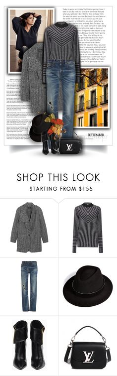 """27.09.2016"" by bliznec-anna ❤ liked on Polyvore featuring Zuhair Murad, Isabel Marant, Dodo Bar Or, R13, Maison Michel and Louis Vuitton"