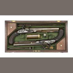Flintlock Dueling Pistols circa 1800