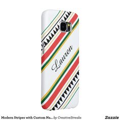 Modern Stripes with Custom Names Samsung Galaxy S6 Cases