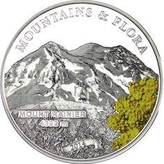 5 Dollar Silber Berge und Flora - Mt. Rainier PP