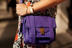 Proenza in Purple :) Spotted-On-The-Street Summer Accessories