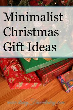 Minimalist Christmas gift ideas are so hard.  This post has some great ideas, I really want to simplify the holidays and this was perfect to get those ideas flowing.  Make sure to read this one or at least repin for later.