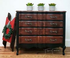 Beautiful little dresser refinished in General Finishes Brown Mahogany Water Based Wood Stain. Diy Furniture Projects, Furniture Makeover, Wood Furniture, Furniture Design, Diy Projects, Mahogany Wood Stain, Stained Dresser, Water Based Wood Stain, Dresser Refinish