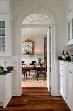 Lovely doorway into the dining room....no open floor plan in our house.