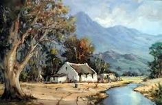 Image result for hennie griesel artist Art Paintings, Landscape Paintings, Fishermans Cottage, Art Houses, Flamenco Dancers, South African Artists, Cabins And Cottages, Ribbon Work, Art Oil