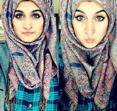 Ohhh she's so puuurdy! <3 #hijab