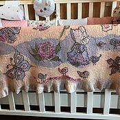 Для дома и интерьера ручной работы. Ярмарка Мастеров - ручная работа Валяный плед-одеяльце для маленькой Принцессы. Двухсторонний. Handmade.# мажорик#felting#