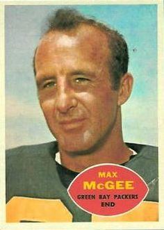 1960 Topps #55 Max McGee-(7/16/1932)-(10/20/2007)