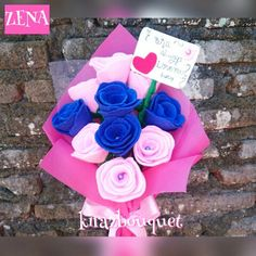 Bouquet Graduation Handmade bouquet for  college propose engangement prewedding alternative with premium quality  from felt. 2976e4ffe7
