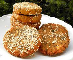 Falafel, Vegan Recipes, Vegan Food, Muffin, Food And Drink, Diet, Curry, Breakfast, Hamburger Patties