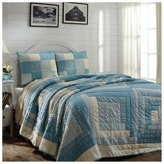 Sea Cottage King Quilt Set 105x95 w/2 King Shams #beachhouse #nauticaldecor
