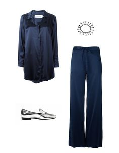 Marques ' Almeida raw-edge pajama shirt, $597farfetch.comEddie Borgo bell bracelet, $400farfetch.comMarques ' Almeida drawstring pajama trousers, $560farfetch.comGucci loafer flat, $595bloomingdales.com