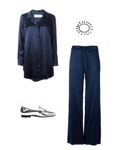 Marques ' Almeidaraw-edge pajama shirt, $597farfetch.comEddie Borgo bell bracelet, $400farfetch.comMarques ' Almeida drawstring pajama trousers, $560farfetch.comGucci loafer flat, $595bloomingdales.com