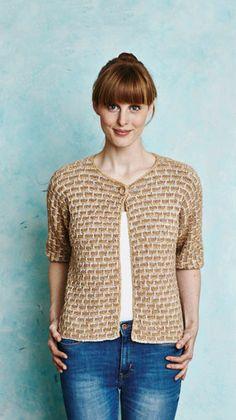 Strikkeopskrift til en sød trøje, med et flot strukturmønster. God fornøjelse.