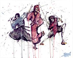 Samurai Champloo Trio Jin Fuu Mugen by PascualProductions on Etsy