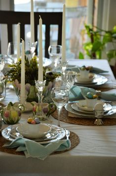 Spring or Easter Tablescape