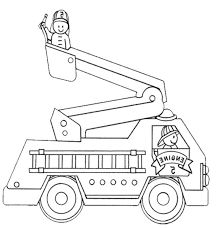תוצאת תמונה עבור firetruck coloring pages to print
