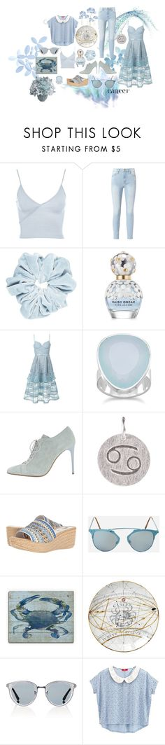 """""""Cancer Love"""" by lyndley-hillebrand ❤ liked on Polyvore featuring Topshop, Frame, Marc Jacobs, self-portrait, BillyTheTree, Acne Studios, Pernille Corydon, Spring Step, Ashley Stewart and Oliver Peoples"""