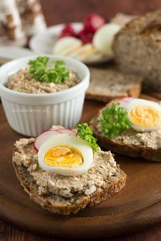 Polish Recipes, New Recipes, Breakfast Lunch Dinner, Appetisers, Healthy Cooking, Appetizer Recipes, Sandwiches, Food And Drink, Yummy Food