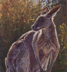 'Number 8' - pastel on sanded paper Number 8, Textile Design, Kangaroo, Pastel, Textiles, Fine Art, Cotton, Animals, Baby Bjorn
