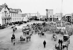 A view of the original Horton Plaza Park. It's possible that the building we see on the right corner of 4th just past the park is where the Balboa Theater is today.  San Diego, California 1894