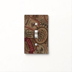 Find Vintage light switch covers on Zazzle. Check out our wonderful designs and spruce up your home décor with our wall switch plates! Coffee Labels, Custom Lighting, Vintage Coffee, Light Switch Covers, Light Up, Vintage Shops, Coffee Shop, Colorful Backgrounds, Collage