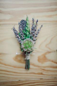 lavender boutonniere // photo by The Nichols // View more: http://ruffledblog.com/surprise-texas-wedding/