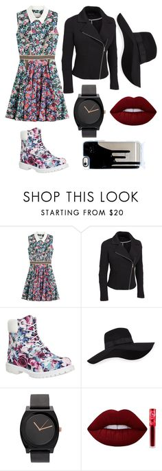 """""""#1"""" by lovebaby1234 ❤ liked on Polyvore featuring Mary Katrantzou, Timberland, San Diego Hat Co., Lime Crime and plus size clothing"""