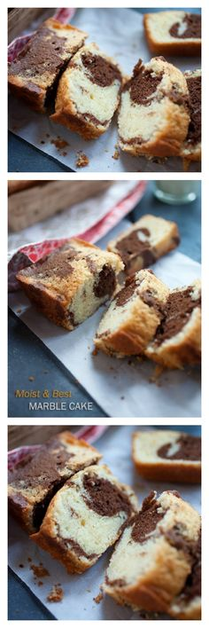 Super Moist and Best Marble Cake - Buttery, loaded with chocolate, oh-so-good and even novice bakers can make this!