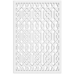 Acurio Latticeworks Fret 32 in. x 4 ft. White Vinyl Decorative Screen Panel-3248PVC-W-FRT - The Home Depot Vinyl Panels, Fence Panels, Vinyl Lattice Panels, Privacy Panels, Home Depot, Decorative Screen Panels, Privacy Shades, Shade Screen, Cement Walls