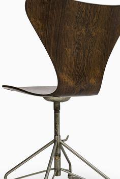 arne jacobsen office chair. Arne Jacobsen Office Chair In Cognac Leather At Studio Schalling | STUDIO SCHALLING Pinterest Jacobsen, Fritz Hansen And
